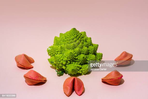 Romanesco broccoli and Fortune Cookies