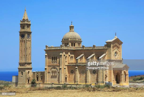 Romanesque architecture of basilica church Ta Pinu Gozo Malta national pilgrimage shrine to Virgin Mary