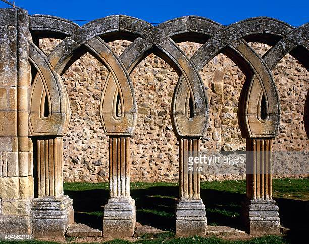 Romanesque Art San Juan de Duero View the intertwined arches of the cloister XIII century It contains elements of Romanesque Gothic Mudejar style and...