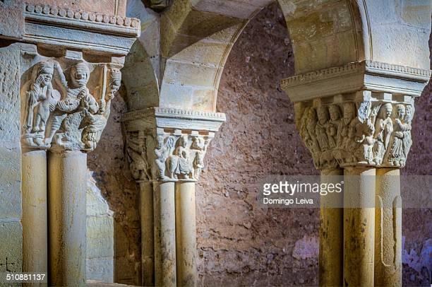 Romanesque columns of the Monastery of Soria