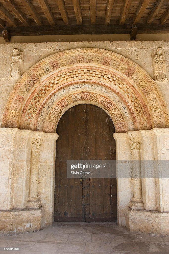 Romanesque Hermitage of Our Lady of las Vegas, Requijada, Segovia : Stock Photo