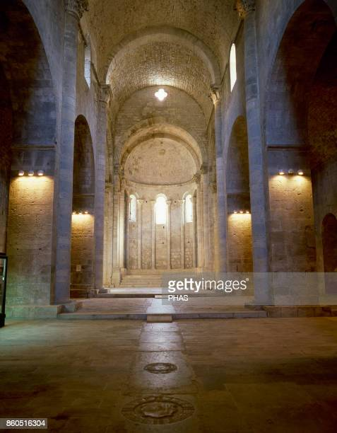 Romanesque style 12th century Monastery of Sant Pere Galligants Girona CataluÐa Spain Its construction began in 1130 and was built during different...