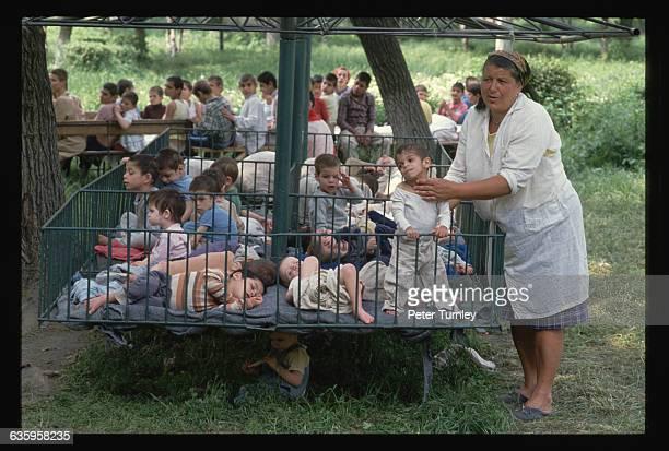 Romania AIDS babies / Retarded children 1990