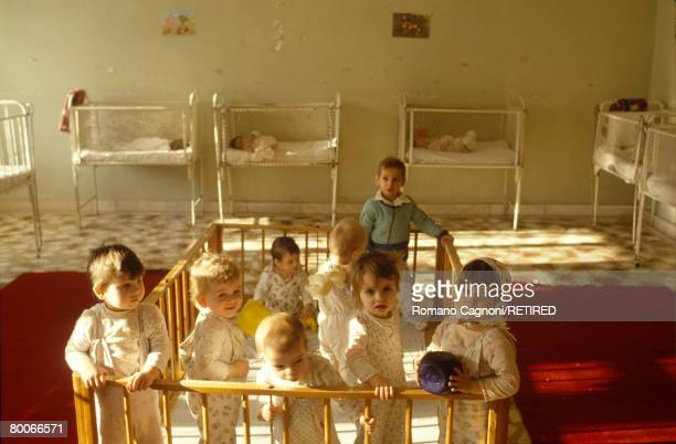 Romania, children in an orphanage in Bucarest, circa 1995.