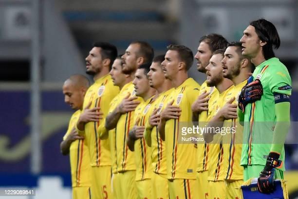 Romania first eleven Ciprian Tatarusanu, Alin Tosca, Mihai Balasa, Denis Alibec, Alexandru Maxim, Nicusor Bancu, Andrei Burca, Ciprian Deac, Razvan...