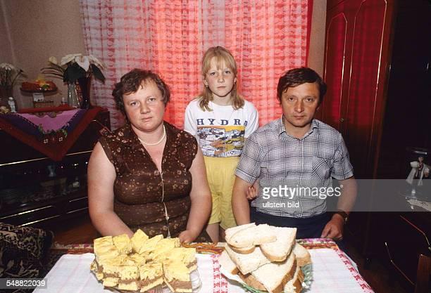 Romania: Local people in their flat in Rehgin.