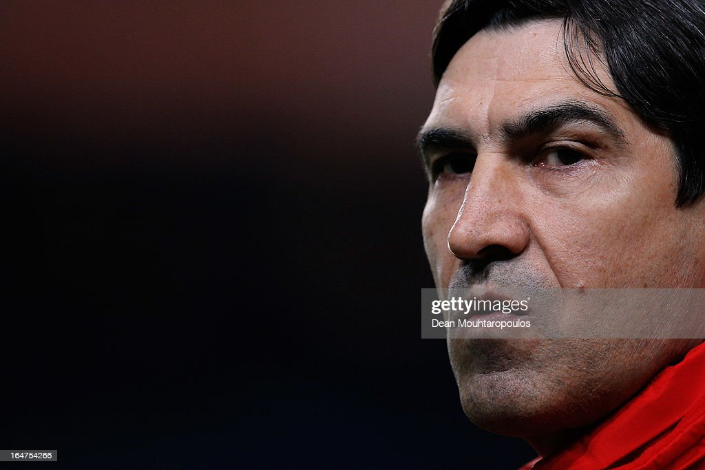 Romania Manager, Victor Piturca looks on during the the Group 4 FIFA 2014 World Cup Qualifier match between Netherlands and Romania at Amsterdam Arena on March 26, 2013 in Amsterdam, Netherlands.