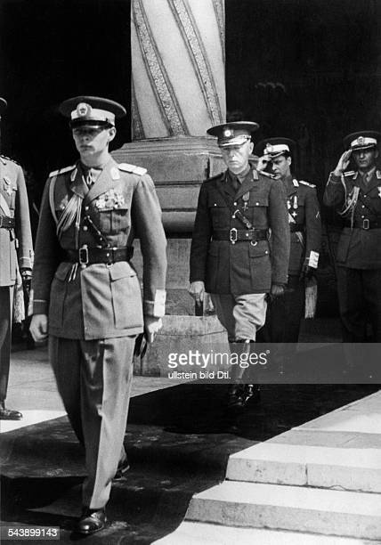 Romania Michael I Crown Prince and King of the Romanians* King of the Romanians 19271930 and 19401947 with Marshall Antonescu 1940 Photographer...