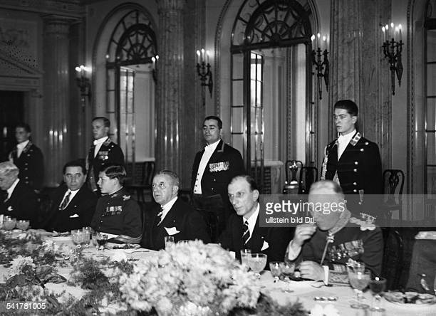 Romania Michael I Crown Prince and King of the RomaniansMihai I*19271930 and 19401947 King of the Romanianson a gala dinner in Bucharest Photographer...