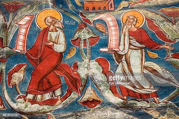 Romania Moldavia Bucovina Exterior fresco Church Of The Annunciation Moldovita Monastery Moldovita