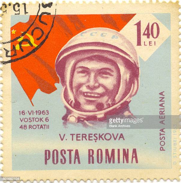 Romania postage stamp features Russian cosmonaut Valentina Tereshkova 1963 Tereshkova was the first woman in space