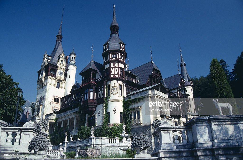 Romania, Prahova, Sinaia, Peles Palace exterior in eclectic    News