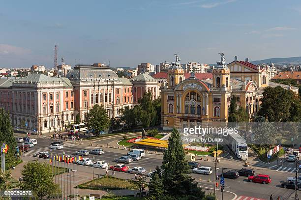 Romania Transylvania Cluj Napoca City Avram Iancu Square National Theatre and Opera House