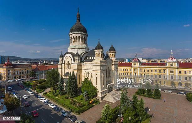 Romania Transylvania Cluj Napoca City Avram Iancu Square Orthodox Cathedral