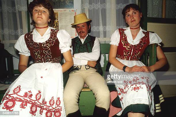 Romania: Ungarian young people wear the traditional dress.