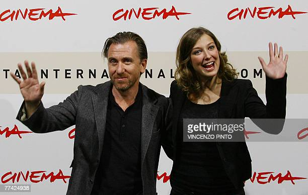 Romanian actress Alexandra Maria Lara and English actor Tim Roth poses during Youth Without Youth photocall at the second annual film festival 20...
