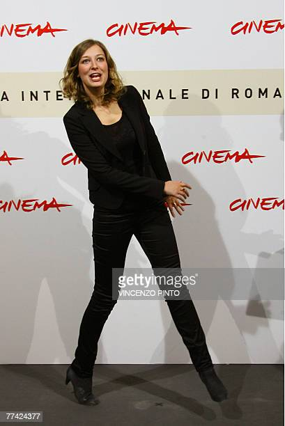 Romanian actress Alexandra Maria Lara poses during Youth Without Youth photocall at the second annual film festival 20 October 2007 in Rome Youth...