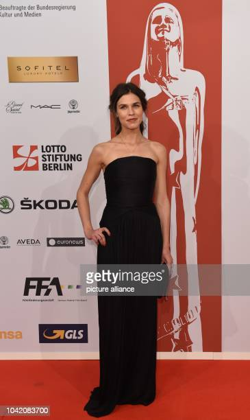 Romanian actress Ana Ularu arriving on the red carpet for the 28th European Film Award ceremony in Berlin Germany late 12 December 2015 Photo Jens...