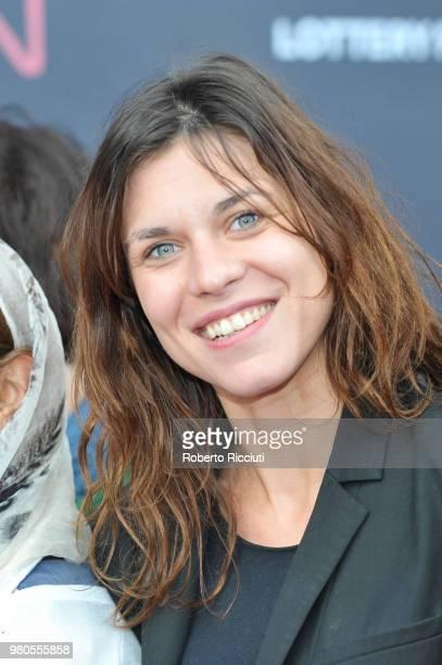 Romanian actress Ana Ularu attends a photocall during the 72nd Edinburgh International Film Festival at Cineworld on June 21 2018 in Edinburgh...