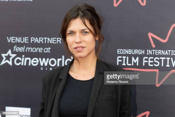 Romanian actress Ana Ularu attends a photocall during the 72nd Edinburgh International Film Festival at Cineworld on June 21 2018 in Edinburgh...