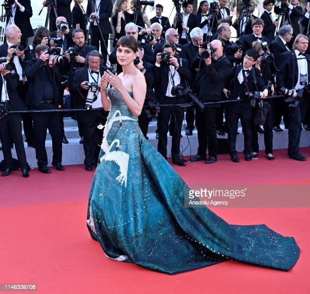 Romanian actress Catrinel Marlon arrives for the Closing Awards Ceremony of the 72nd annual Cannes Film Festival in Cannes France on May 25 2019