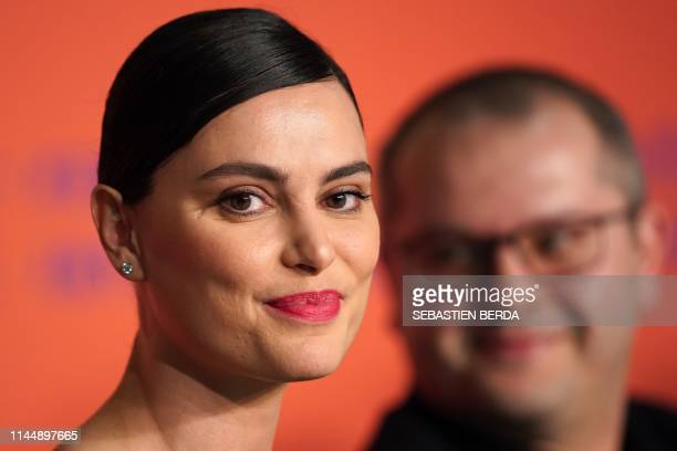 Romanian actress Catrinel Marlon attends a press conference for the film The Whistlers at the 72nd edition of the Cannes Film Festival in Cannes...