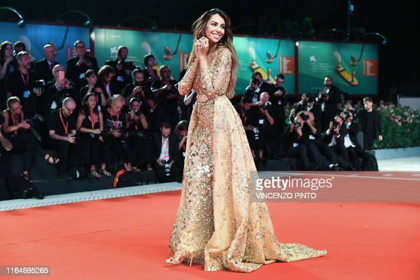 Romanian actress Madalina Ghenea arrives on August 29 2019 for the screening of the film Ad Astra during the 76th Venice Film Festival at Venice Lido