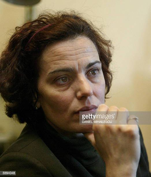 Romanian actress Maia Morgenstern who plays the role of Virgin Mary in the Mel Gibson's Passion of the Christ speaks during an interview before the...
