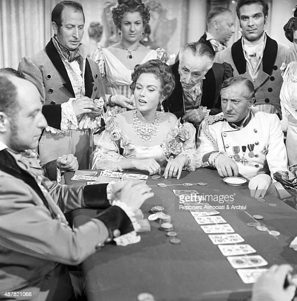 Romanian actress Nadia Gray acting in Casta Diva Italy 1954