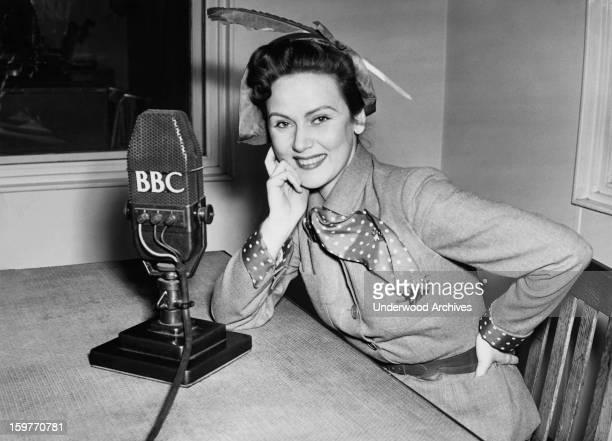 Romanian actress Nadia Gray in the BBC studios London England December 14 1950