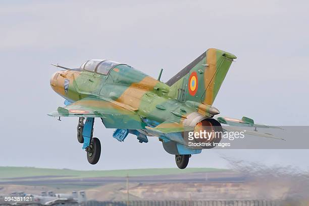 A Romanian Air Force MiG-21B taking off from Camp Turzii Air Base, Romania.
