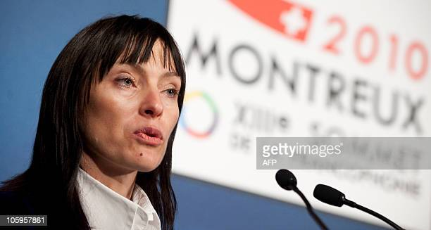 Romanian author Liliana Lazar, winner of the Prize of Five Continents de la Francophonie for her novel entitled �Terre des Affranchis� , speaks at...
