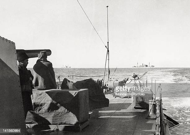 Romanian cargo convoy with escort unit sailing the Black Sea March 1943