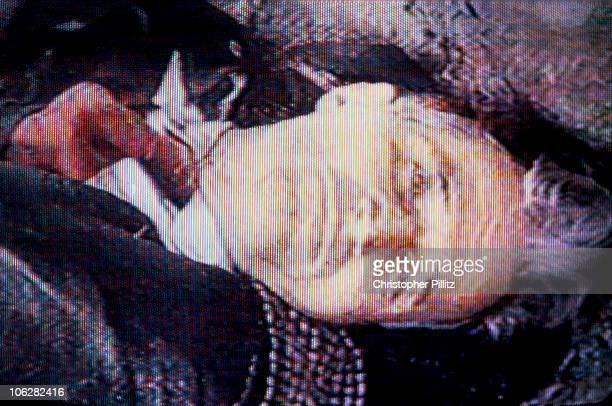 Romanian Communist dictator Nicolae Ceausescu after his execution during the Romanian revolution of December 1989 Bucharest Romania