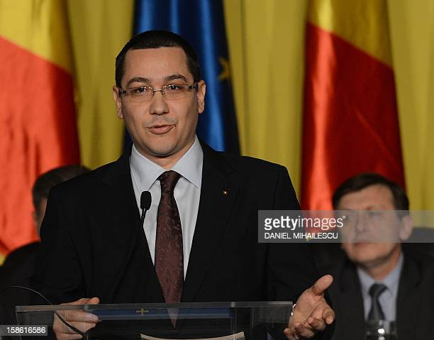 Romanian designated Prime Minister Victor Ponta adresses the Romanian Parliament in Bucharest on December 21 2012 The return of Victor Ponta as...