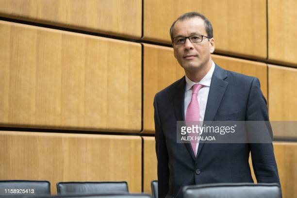 Romanian diplomat Cornel Ferurta attends a meeting of the International Atomic Energy Agency in Vienna on August 1, 2019. - Feruta was on July 25,...