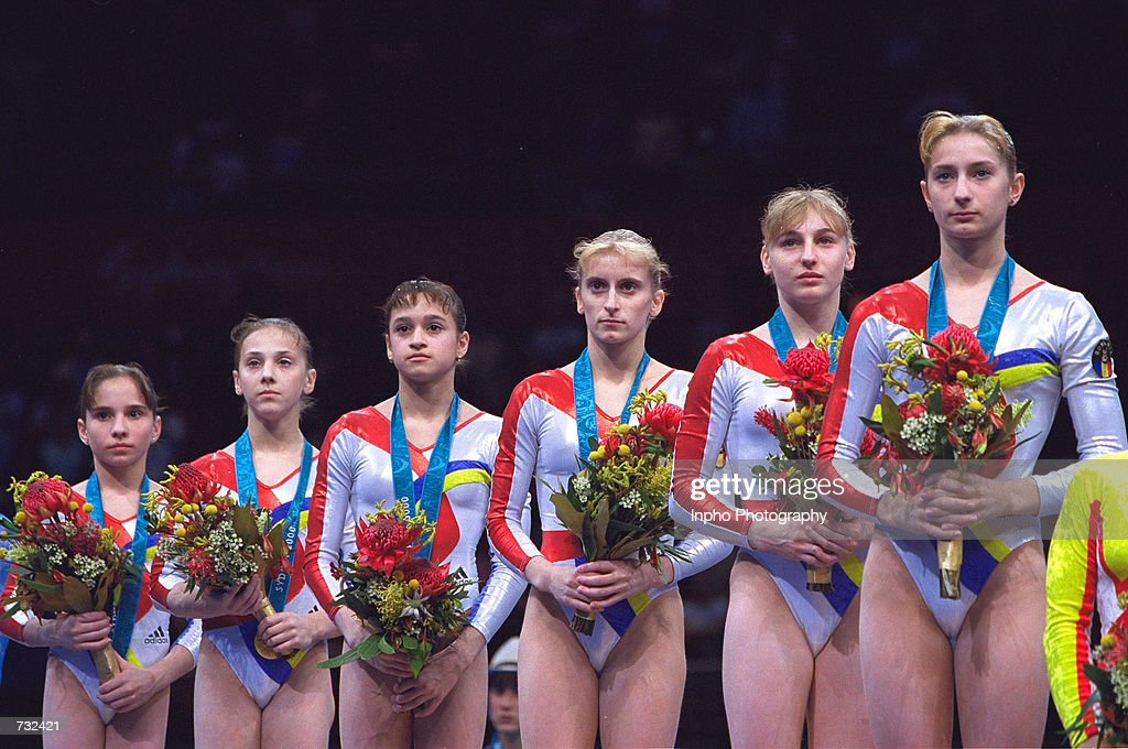 Romania's Women's Gymnastics Wins Gold : News Photo