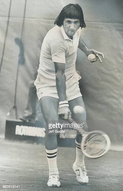 Romanian Ilie Nastase was on best behavior last night and gave superb demonstration of clay court tennis which he needed to eliminate John Alexander...