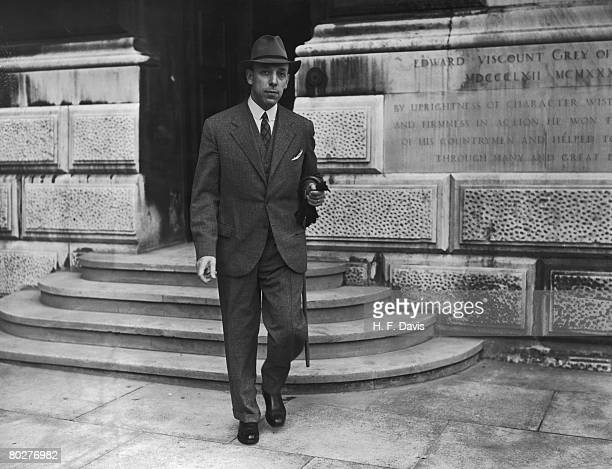 Romanian industrialist, politician and diplomat Viorel Tilea outside the Foreign Office in London, during a spate of diplomatic activity in the weeks...