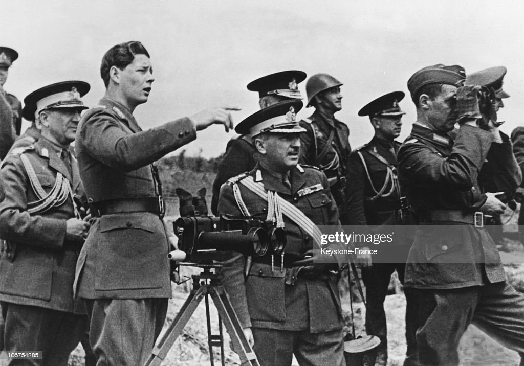 Romanian King Michael On The Bessarabian Front In September 1941 : News Photo