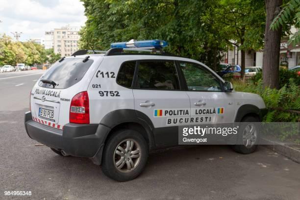 romanian local police car - gwengoat imagens e fotografias de stock