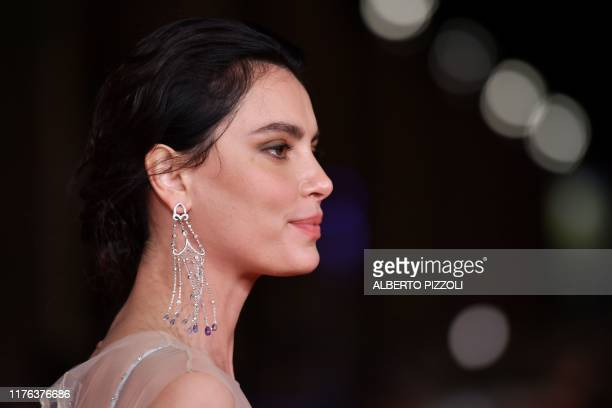 Romanian model and actress Catrinel Marlon Menghia arrives for the screening of US crime drama Motherless Brooklyn during the 14th Rome Film Festival...