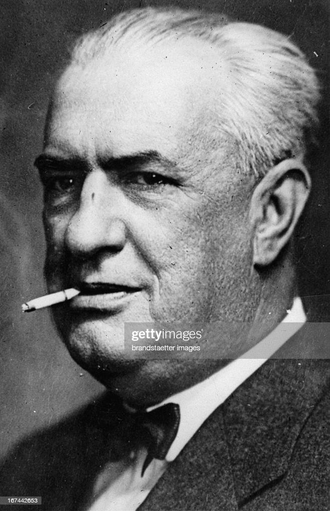 Romanian politician Constantin Argetoianu. Portrait. 1934. Photograph. (Photo by Imagno/Getty Images) Der rumänische Politiker Constantin Argetoianu. Portrait. 1934. Photographie.
