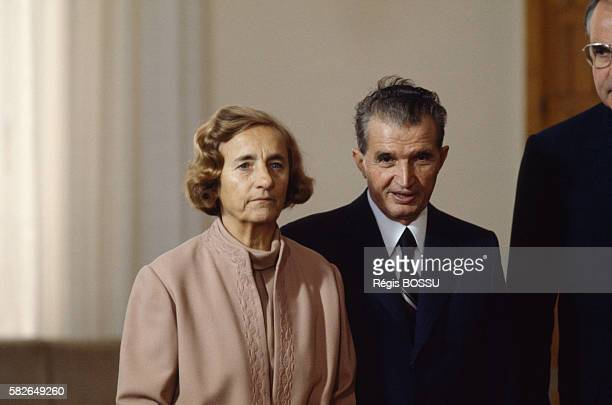 Romanian President Nicolae Ceausescu and his wife Elena during their official visit to FRG