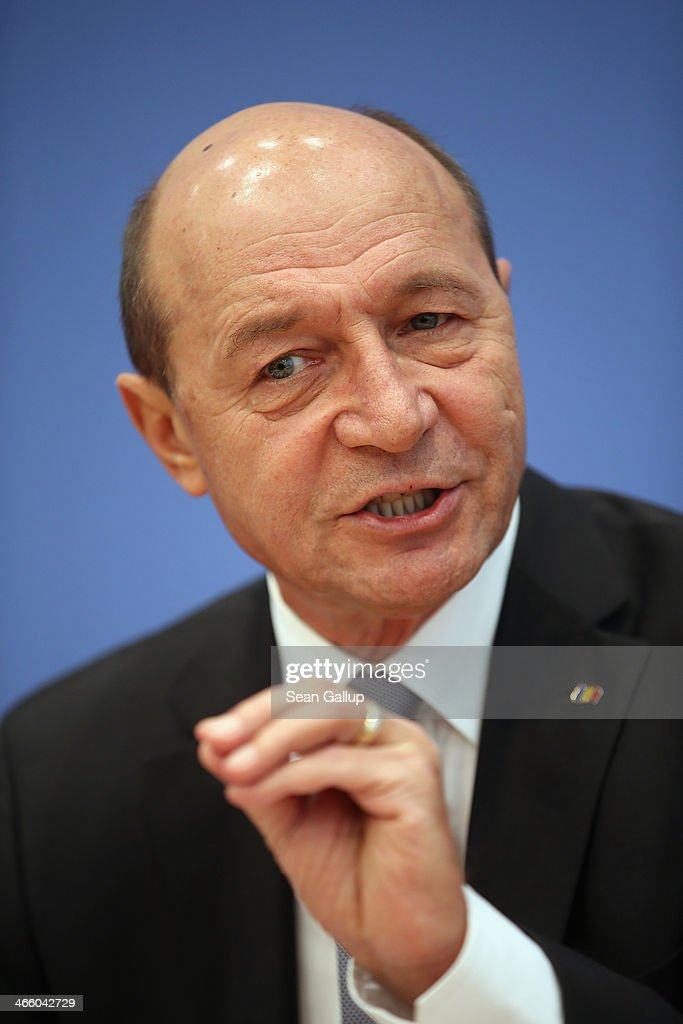 Romanian President Basescu Press Conference