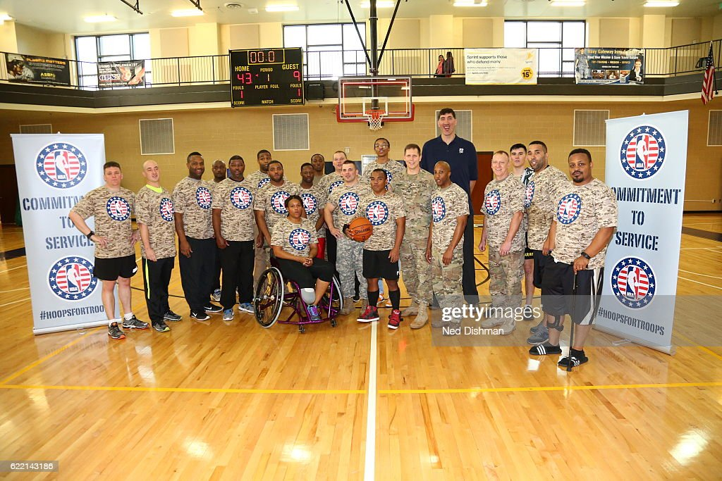 Washington Wizards Wounded Warriors Event : News Photo