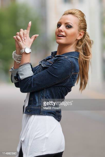 ACCESS*** Romanian singer Alexandra Stan poses on June 1 2011 in Halle Germany