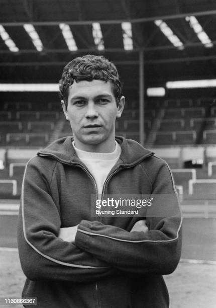 Romanian soccer player Mircea Lucescu at Wembley Stadium for an international friendly match against England, London, UK, 15th January 1969.