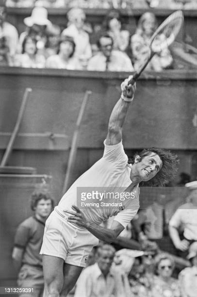 Romanian tennis player Ilie Nastase at the Wimbledon Championships in London, UK, 26th June 1973.