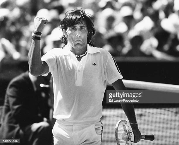 Romanian tennis player Ilie Nastase pictured during his semi final match against Ruben Ramirez at Wimbledon Tennis Championships in London England...